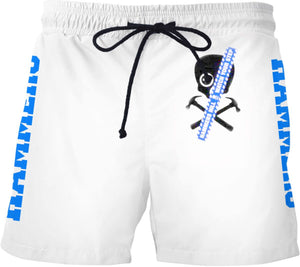 HAMMERS BLUE SKULL SWIM SHORTS