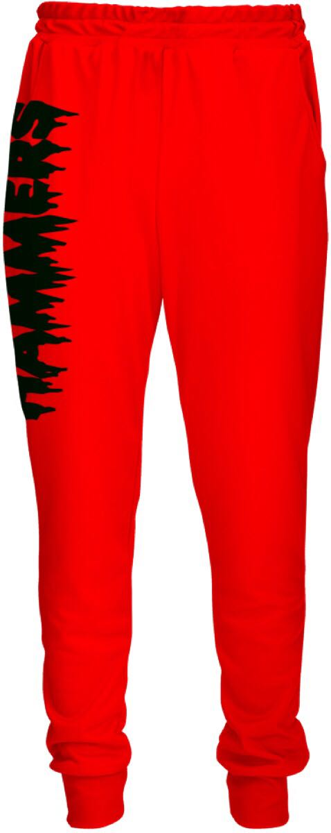 HAMMERS FIREY RED TRACK PANTS