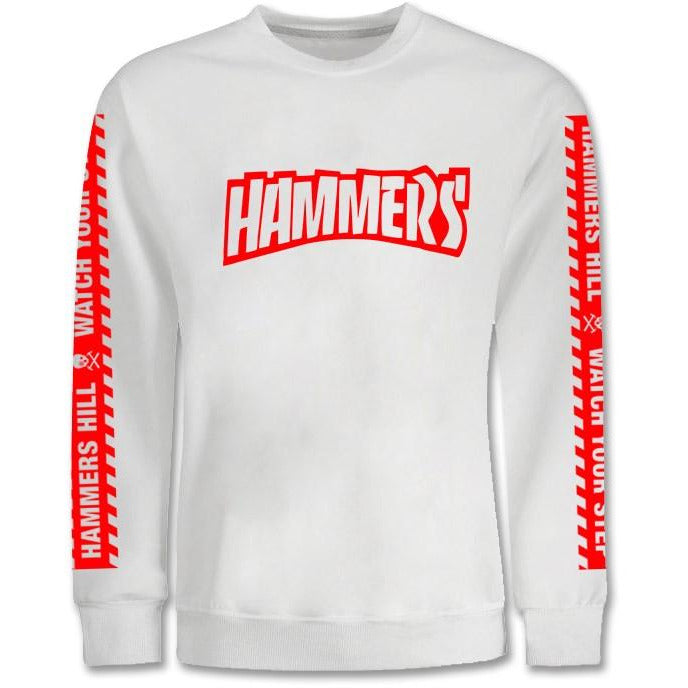 HAMMERS WHITE & RED CREWNECK