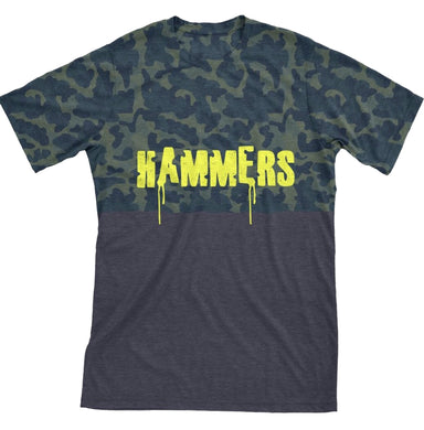 HAMMERS TWO TONE T-SHIRT (GREY CAMO)