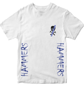 HAMMERS BLUE SKULL EFFECT T-SHIRT