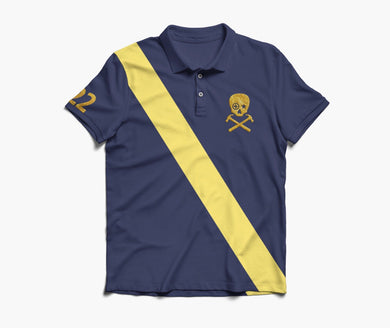 HAMMERS POLO SHIRT - BLACK WITH YELLOW & GOLD EMBROIDERED DETAILS