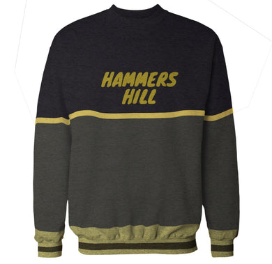 HAMMERS THREE-TONE CREWNECK (BLACK, GREY & YELLOW)