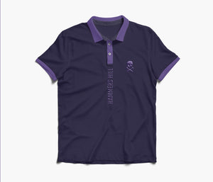 HAMMERS POLO SHIRT -  PURPLE WITH EMBROIDERED DETAILS