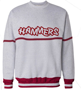 HAMMERS TWO TONE CREWNECK (GREY & RED)