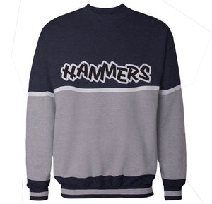 HAMMERS TWO TONE CREWNECK (NAVY & GREY)
