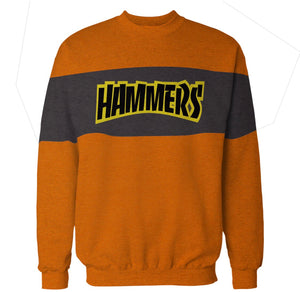 HAMMERS TWO TONE CREWNECK (ORANGE & BLACK)