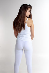 WHITE MESH LEGGING