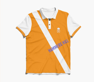 HAMMERS POLO SHIRT - YELLOW WITH WHITE DETAILS