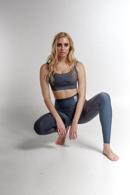 GREY STONE MESH LEGGING