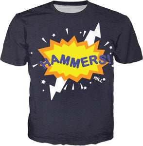 HAMMERS BURST T-SHIRT (NAVY)