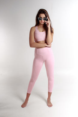 HIGH WAIST PREMIUM PEONY BLUSH LEGGING