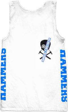 HAMMERS BLUE SKULL SLEEVELESS SHIRT