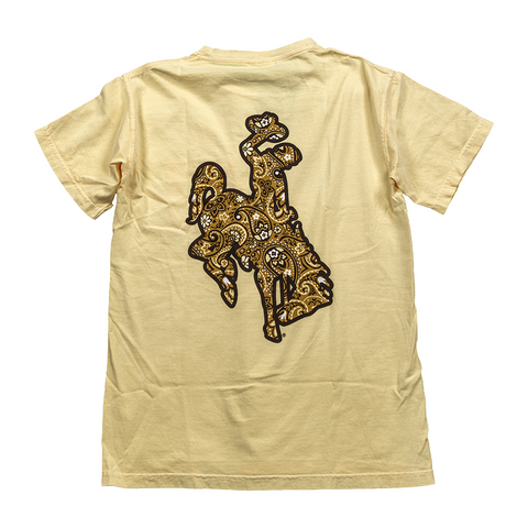 Paisley Bucking Horse Pocketed T-shirt