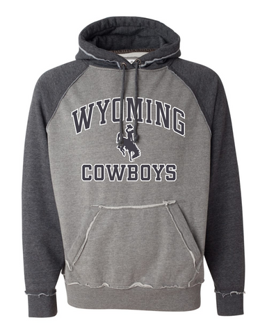 Wyoming Cowboys Color Block Hood