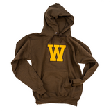 """W"" Felt Hooded Sweatshirt"