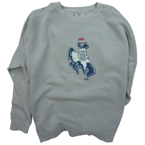Wyoming Bucking Horse Flag Crew Neck