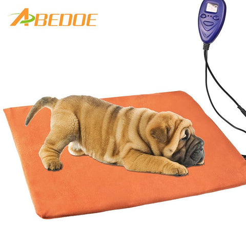 Abedoe Pet Electric Blanket Waterproof Anti-Bite Heating Pad Thermostat Dog Cat 12V Low Voltage-Pristine Pups
