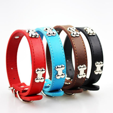 Adjustable Pu Leather Dog Collar-Pristine Pups