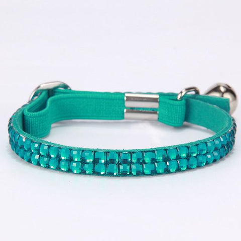 Bling Pet Cat Collar Pet Products Small Dog Collars Crystals Colorful Pet Dog Cat Leash Collar-Pristine Pups