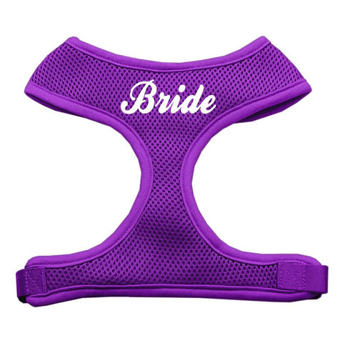 Bride Screen Print Soft Mesh Harness Purple Extra Large-Pristine Pups
