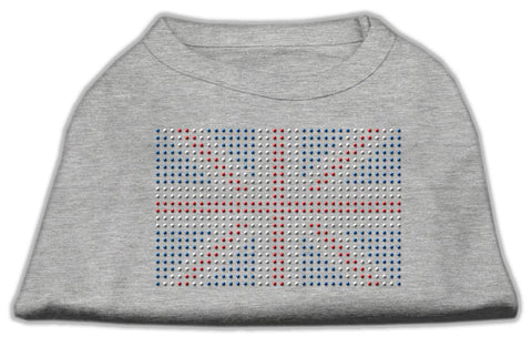British Flag Shirts Grey Xs (8)-Dog Shirts-Pristine Pups