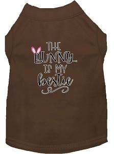 Bunny Is My Bestie Screen Print Dog Shirt Brown Xxxl (20)-Dog Shirts-Pristine Pups