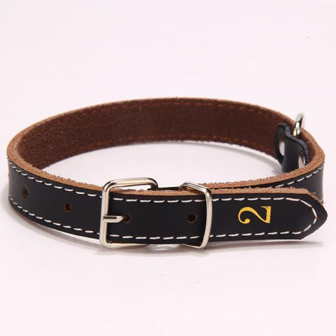 Cowskin Dog Collar-Pristine Pups