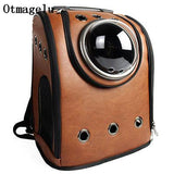 High Quality Leather Space Capsule Pet Cat Backpack Bubble Window For Kitty Puppy Small Dog Carriers-Pristine Pups