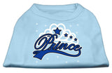 I'M A Prince Screen Print Shirts Baby Blue Med (12)-Dog Shirts-Pristine Pups