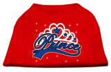 I'M A Prince Screen Print Shirts Red Xxl (18)-Dog Shirts-Pristine Pups