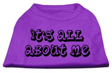 It'S All About Me Screen Print Shirts Purple Xxl (18)-Dog Shirts-Pristine Pups