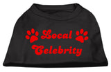 Local Celebrity Screen Print Shirts Black Med (12)-Dog Shirts-Pristine Pups