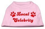 Local Celebrity Screen Print Shirts Pink Med (12)-Dog Shirts-Pristine Pups