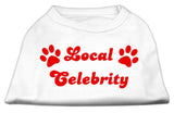 Local Celebrity Screen Print Shirts White Lg (14)-Dog Shirts-Pristine Pups
