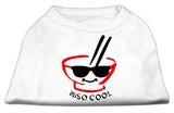 Miso Cool Screen Print Shirts White Sm (10)-Dog Shirts-Pristine Pups
