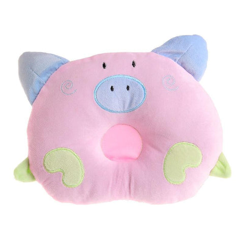 Newborn Pillow Baby Positioner Infant Prevent Pig Pattern Figure Head Pillows House Bedding Soft-Pristine Pups