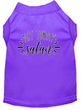 Not Today Satan Screen Print Dog Shirt Purple Lg (14)-Dog Shirts-Pristine Pups
