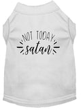 Not Today Satan Screen Print Dog Shirt White Xxl (18)-Dog Shirts-Pristine Pups