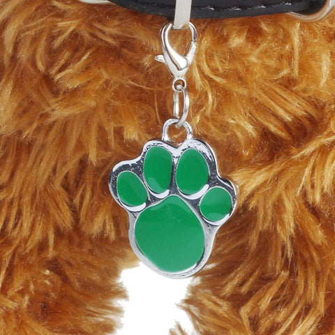 Pet Accessories Popular Footprints Puppy Rhinestone Pendant Lovely Pet Jewelry Free Shipping-Pristine Pups