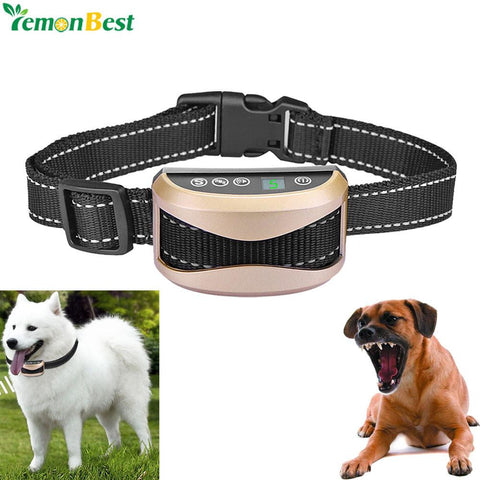 Pet Supplies Anti Bark No Bark Collar Electric Shock Rechargeable Dog Barking Control Training-Pristine Pups