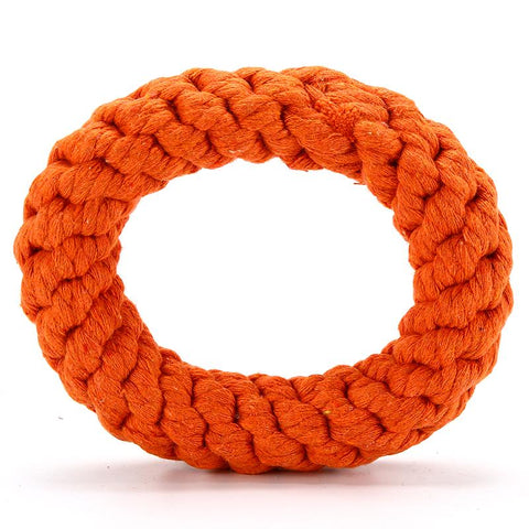 Pet Supplies Dog Hand Woven Ring Toys Interactive Training Dog Pet Bite Toys For Small Medium Dog-Pristine Pups