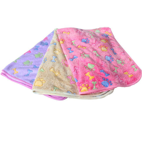 Dog Hamsters Pad Blanket Pet Cat Mat Dog Puppy Warm Bed Paw Coral Fleece Cover-Pristine Pups