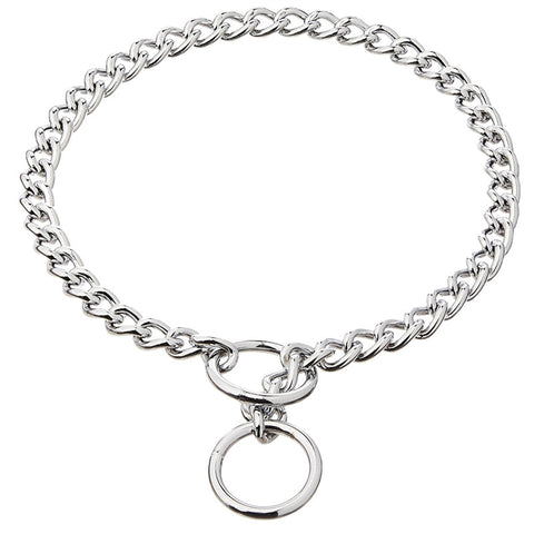 Stainless Steel P Chock Metal Chain Training Dog Pet Collars Necklace-Pristine Pups