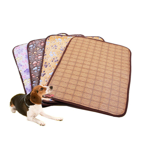 Bamboo Pet Dog Double-sided Mat Summer Puppy Cooling Mat Pad Bed Blanket-Pristine Pups