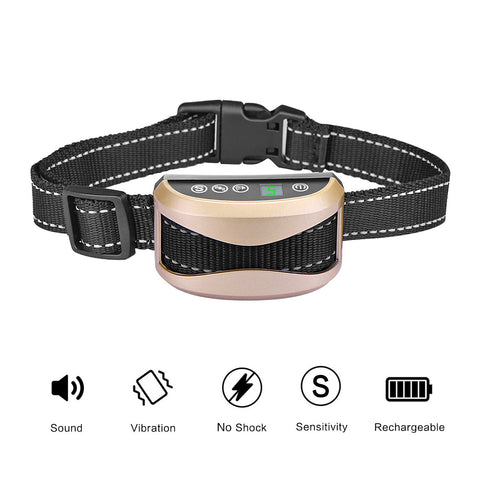 Anti Bark No Bark Collar Electric Shock Rechargeable Dog Barking Control Training Collar Anti Barking Belt For Dog-Pristine Pups