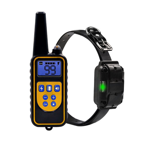Waterproof Rechargeable Training Collar Vibration Remote Dog Training Collar with UK Plug-Pristine Pups
