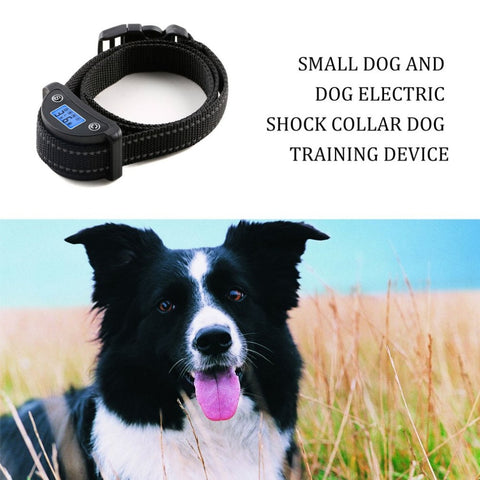 Pet Dog Training Collar Anti-barking Collar Electric Shock Adjustable Nylon Strap USB Charging LCD Digital Dog Trainer-Pristine Pups