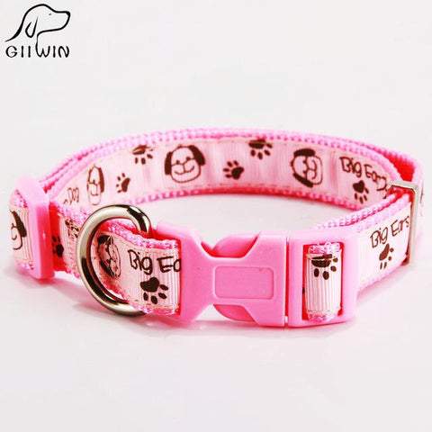 Quick Release Pet Collar Leash Breakaway Cat Harness Collars Buckle Solid Pink Collar Pet Products-Pristine Pups