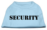 Security Screen Print Shirts Baby Blue W/ Black Text Sm (10)-Dog Shirts-Pristine Pups